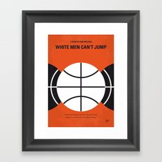 No436 My White Men Cant Jump minimal movie poster Framed Art Print