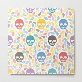 Funny sugar skulls Metal Print