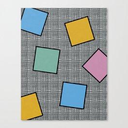 Memphis Squares Canvas Print