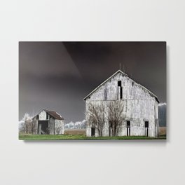 The Barn and Shed - Inverted Art Metal Print