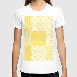 Yellow Patchwork Decoration Marrakesh Tiles Spanish Tails Decor Sunflower Art Kitchen Bath T-shirt