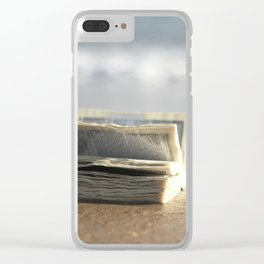 Book on the Beach Clear iPhone Case