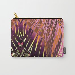PRETTY VIOLET YELLOW SWEEPING LINE PATTERN Carry-All Pouch