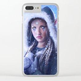 Winter Elf Clear iPhone Case