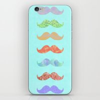 moustache iPhone & iPod Skins featuring mOUSTACHE by BlueSailCo
