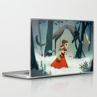 red hood Laptop & iPad Skins featuring red hood by brutal moineau