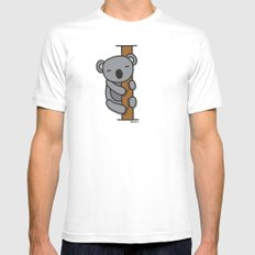 Cute Koala Mens Fitted Tee White SMALL