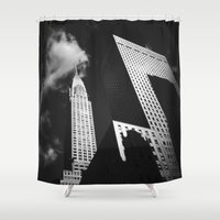 building Shower Curtains featuring Chrysler Building by Vivienne Gucwa
