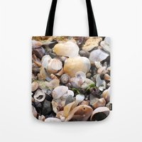 shells Tote Bags featuring Shells by BACK to THE ROOTS