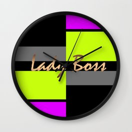 Lady Boss 2 Wall Clock