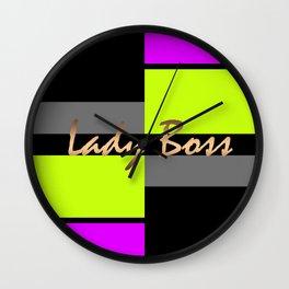 Lady Boss 2 Wall Clock