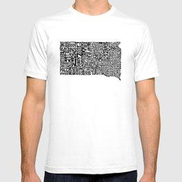 Typographic South Dakota T-shirt