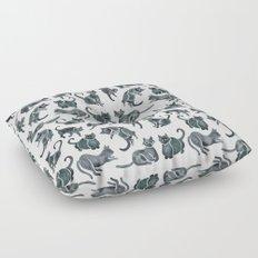 Cat Positions – Black Palette Floor Pillow