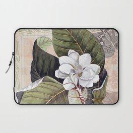 Vintage White Magnolia Laptop Sleeve