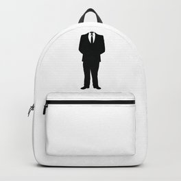 Anonymous Headless Tuxedo Suit Silhouette Man Backpack