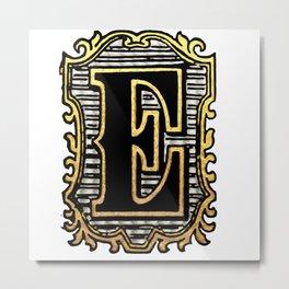 Monogram Initial Letter 'E' Metal Print