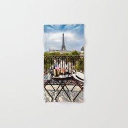 Eiffel Tower Paris Balcony View Hand & Bath Towel