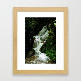 Sacred Waterfall Framed Art Print