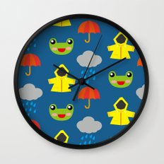 rainy days (Children's pattern) Wall Clock