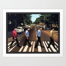 Boldly going on Abbey Road Art Print