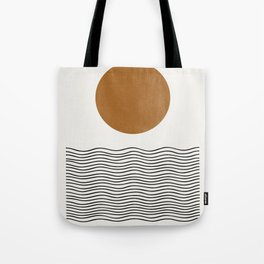 Abstract Landscape, Gold Sun Tote Bag
