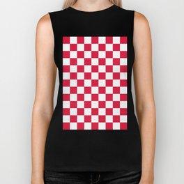 Checker (Crimson/White) Biker Tank