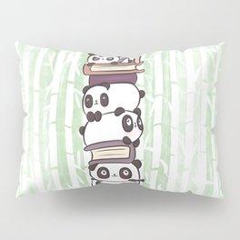 PILE OF PANDAS AND BOOKS Pillow Sham