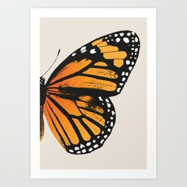 Monarch Butterfly | Right Butterfly Wing | Vintage Butterflies | Art Print