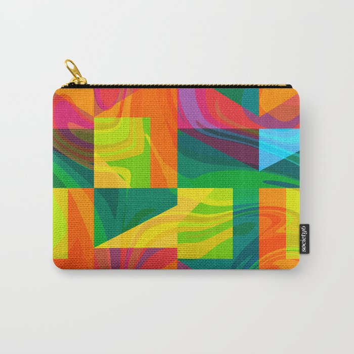 Funky geometric pattern Carry-All Pouch