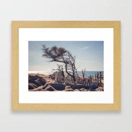 Graveyard by the sea Framed Art Print