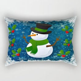 Snowman - Happy Holidays Rectangular Pillow