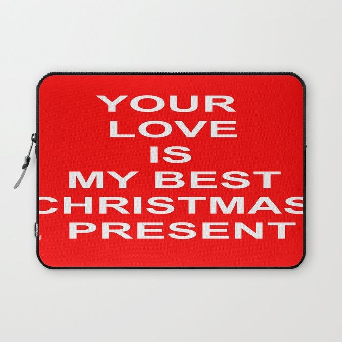 Christmas Red Laptop Sleeve