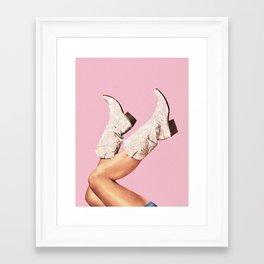 These Boots - Glitter Pink II Framed Art Print
