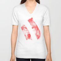 eric fan V-neck T-shirts featuring Red - by Eric Fan and Garima Dhawan  by Eric Fan