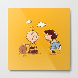 Snoopy Charlie plays Metal Print