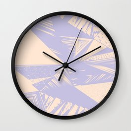 Modern lilac ivory violet geometrical shapes patterns Wall Clock