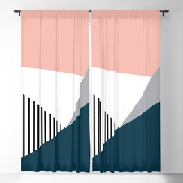 Colorful geometry 2 Blackout Curtain