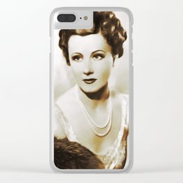 Movie Legends, Irene Dunne Clear iPhone Case