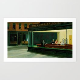 Nighthawks Vintage Original Painting Edward Hopper Art Print