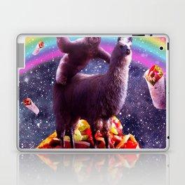 Space Sloth Riding Llama Unicorn - Taco & Burrito Laptop & iPad Skin