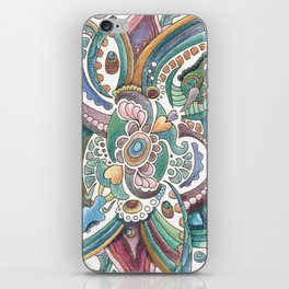 Twisted love for a sea butterfly iPhone Skin