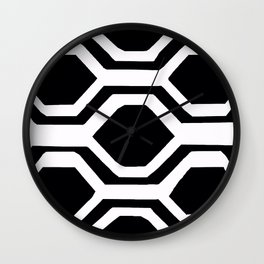 BLACK AND WHITE GEOMETRIC 2020 Wall Clock