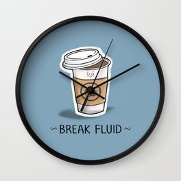 Break Fluid Wall Clock
