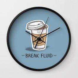 Break Fluid Wall Clock