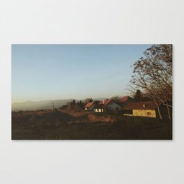 afternoon in the village Canvas Print
