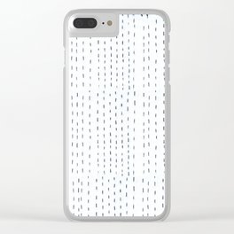 simple sewing pattern Clear iPhone Case