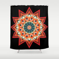southwest Shower Curtains featuring Southwest Kaleidoscope  by North 10 Creations