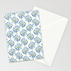 Heart Flower - Blue Stationery Cards