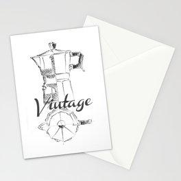 Coffee pot blueprint sketch Stationery Cards