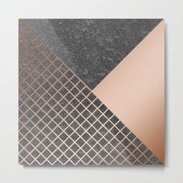 Copper & Concrete 05 Metal Print